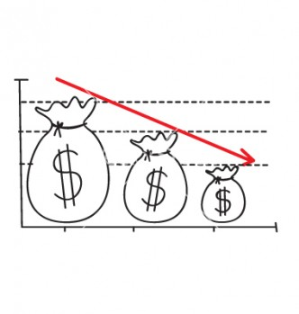 money-loss-graph-vector-796090
